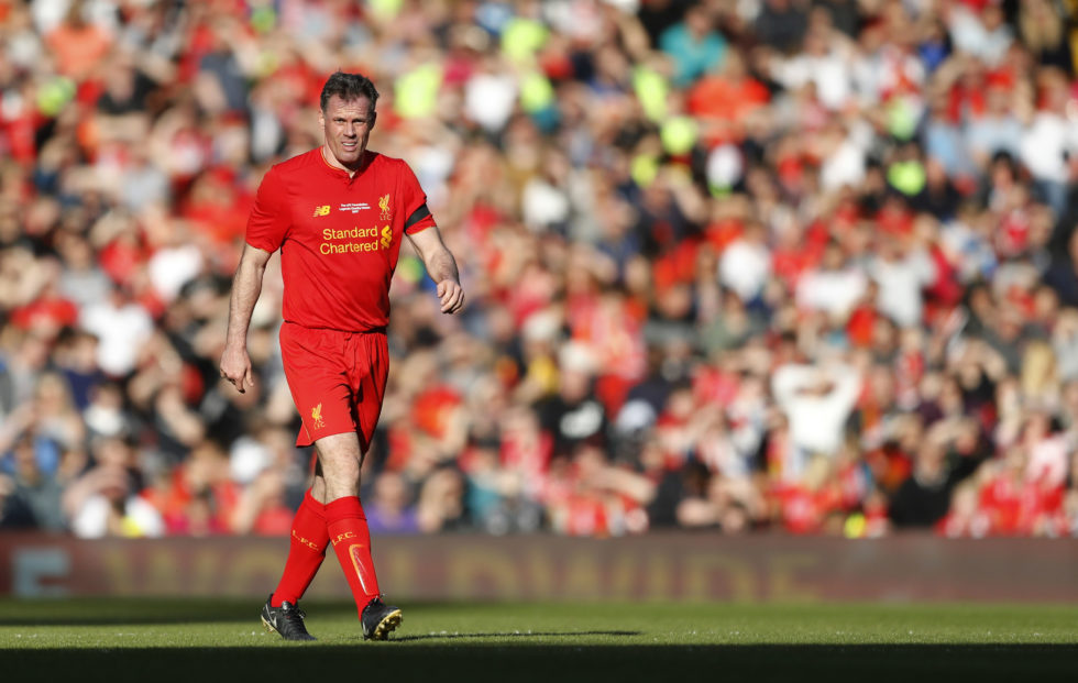 Jamie Carragher is one of the best Liverpool defenders ever