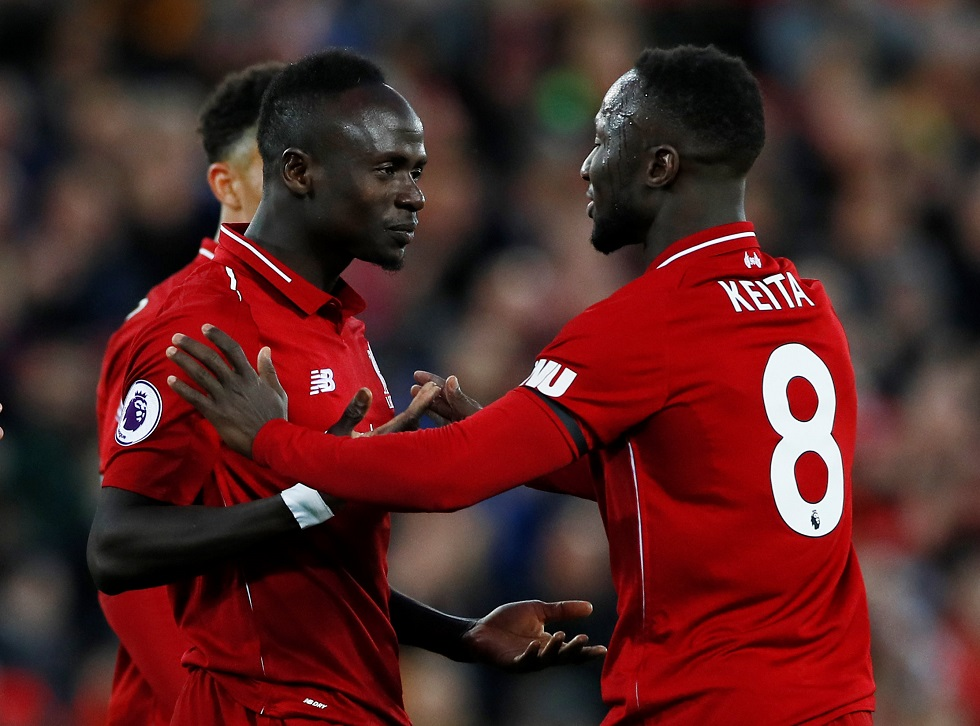 Small Liverpool Footballers Naby Keita Sadio Mane