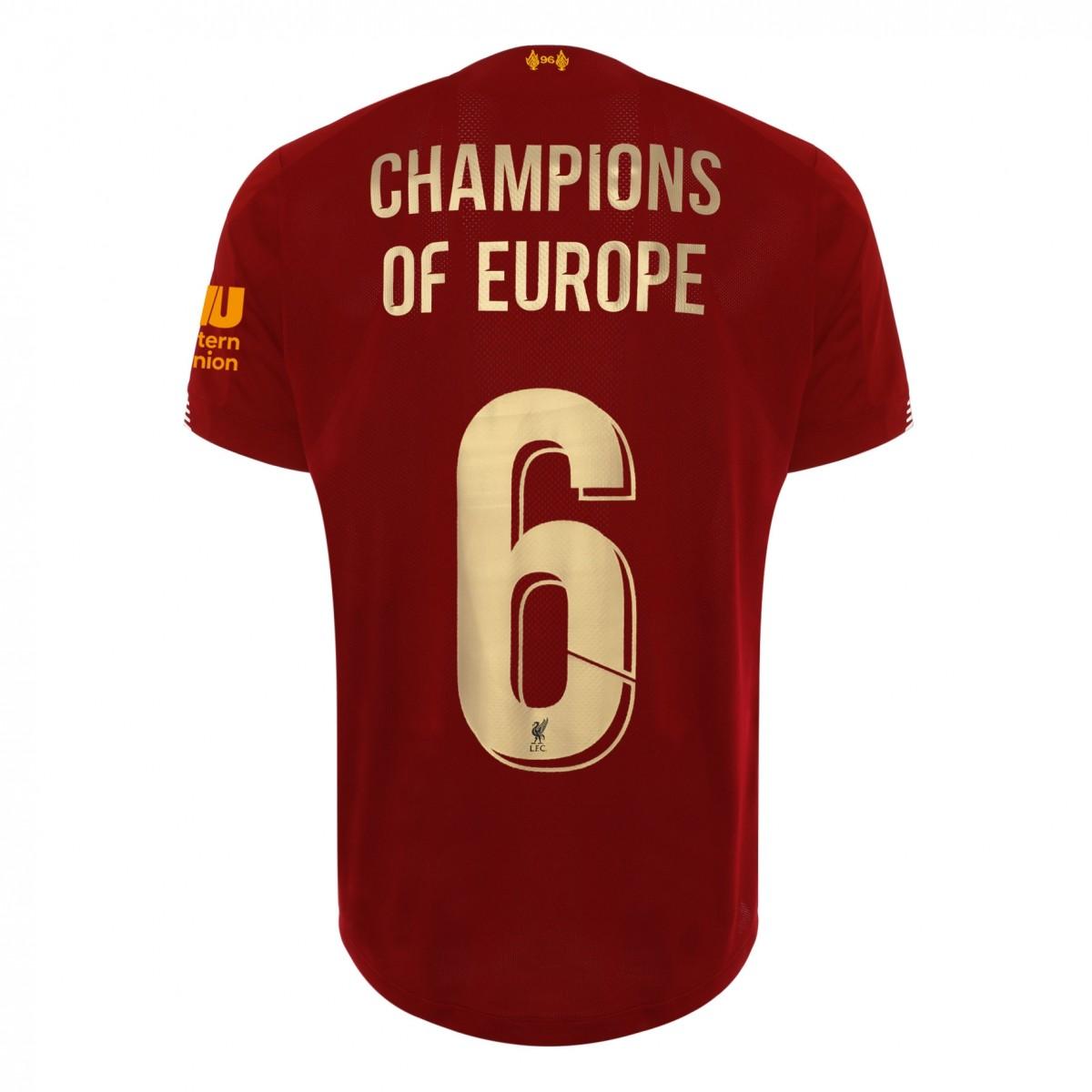Liverpool European Champions Jersey