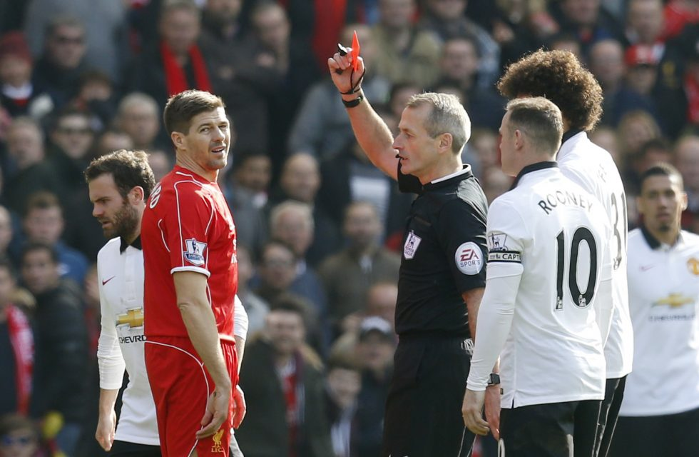 Liverpool: Premier League Red Cards by Player