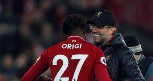 Klopp highly commends Origi following Everton triumph