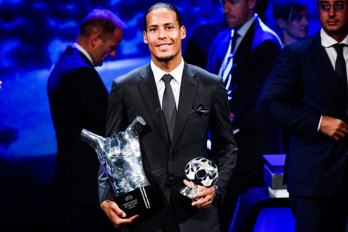 Virgil van Dijk takes dig at Cristiano Ronaldo at Ballon d'Or ceremony