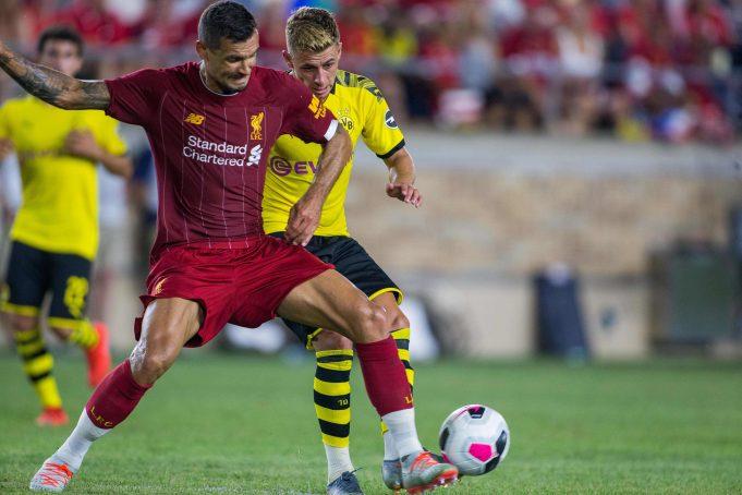 Liverpool defender Dejan Lovren back in training