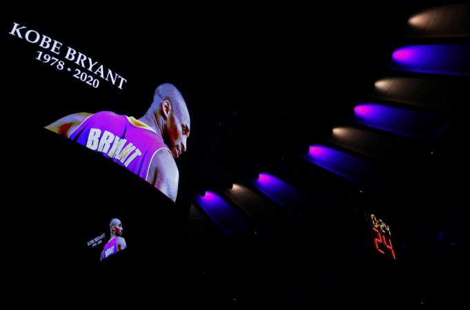 Liverpool pay their respects to NBA legend Kobe Bryant