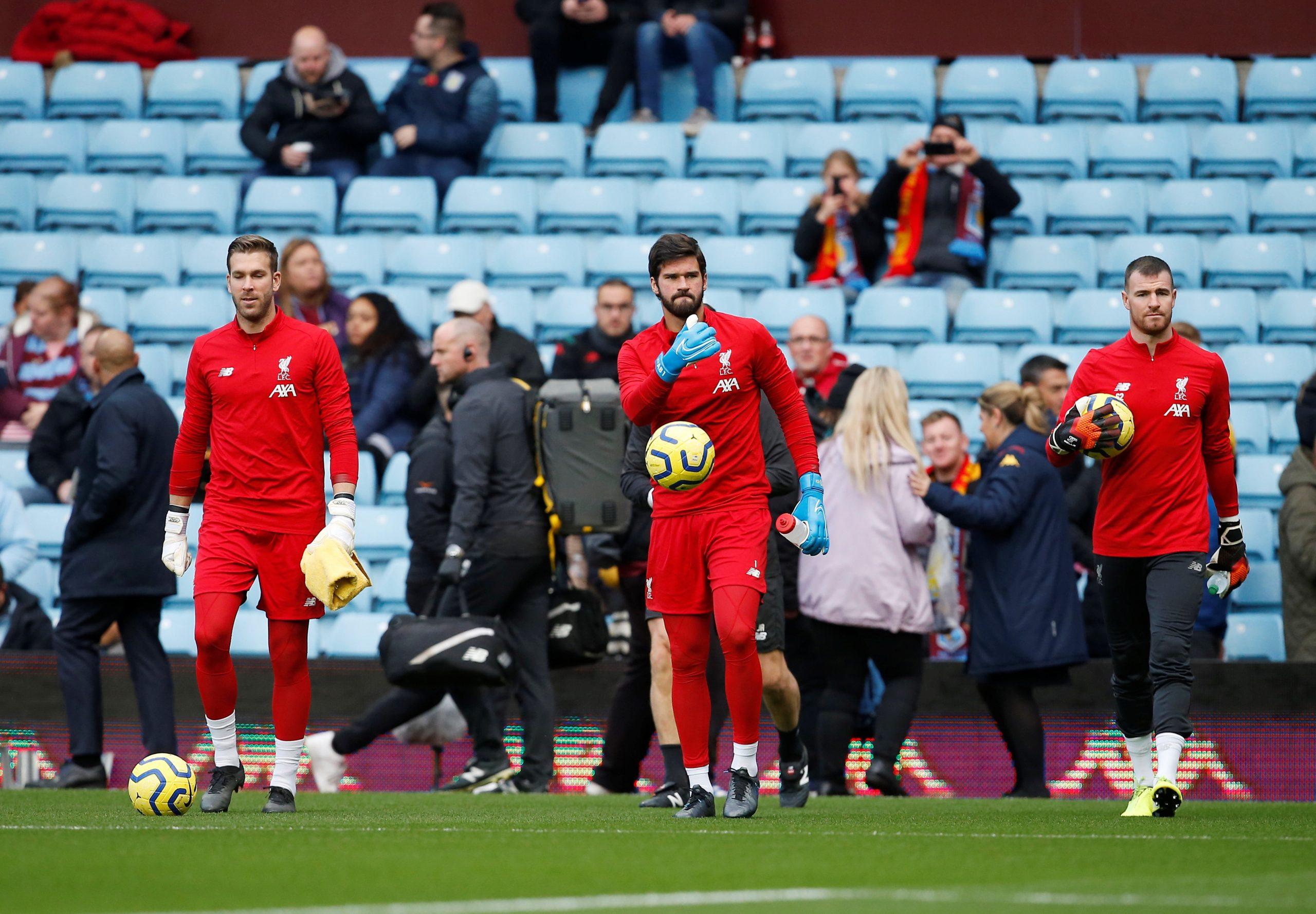 Liverpool FC Goalkeepers 2020