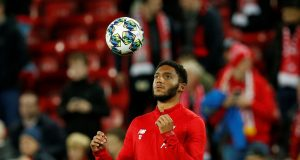 Joe Gomez returns to first-team training after long-term injury